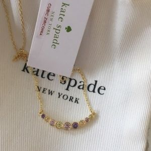 kate spade full circle multi color necklace nwt